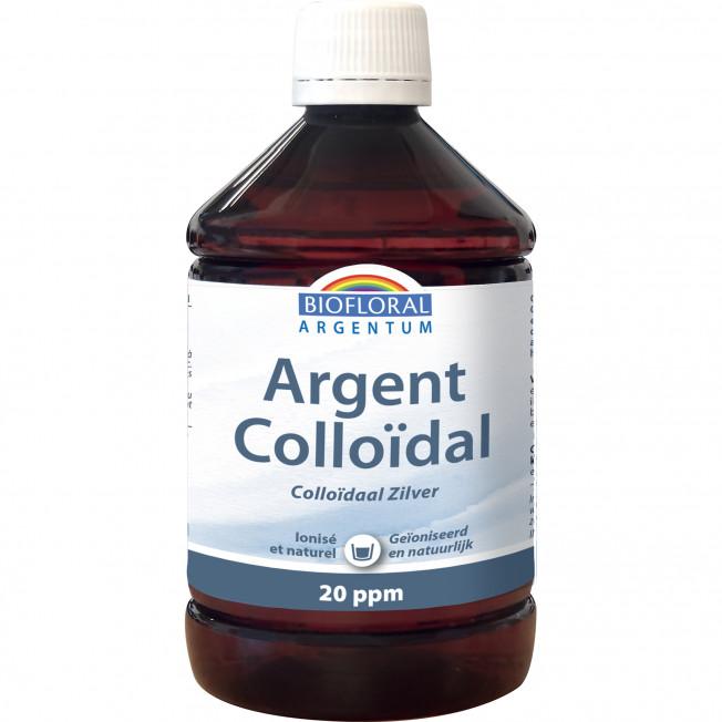Argent Colloidal 20 PPM naturel - 500 ml | Biofloral