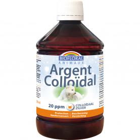 Argent Colloïdal ANIMAUX 20 PPM naturel - 500 ml | Biofloral