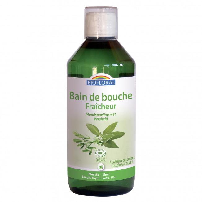 Bain de bouche Fraîcheur à l'Argent Colloïdal - 500 ml   Biofloral