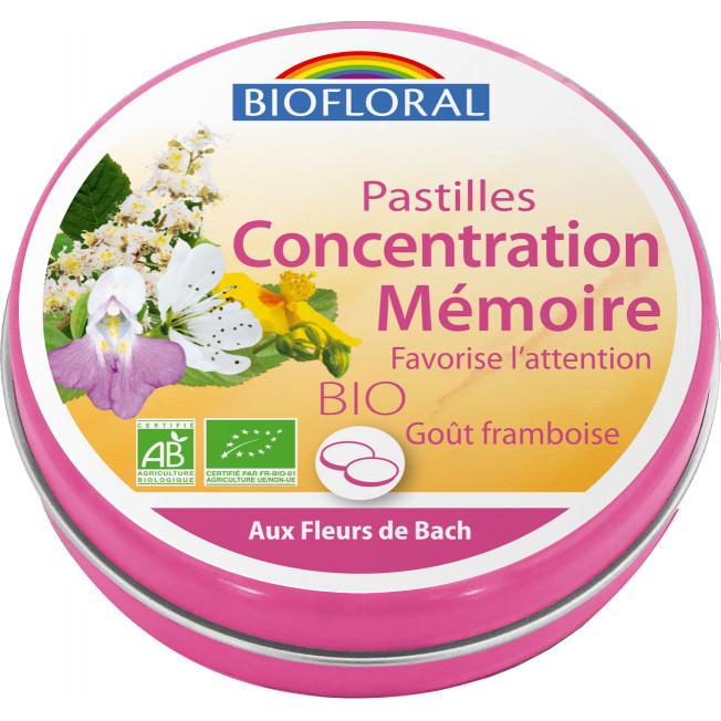 Pastilles Concentration Mémoire , boite familiale - 50 g | Biofloral