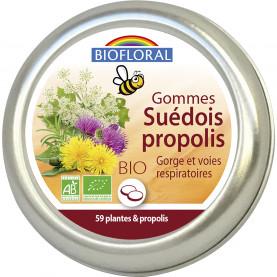 Gommes Suédois Bio 59 plantes et Propolis - 45 g | Biofloral