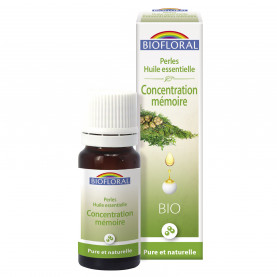 Perles essentielles, Complexe  Concentration, Mémoire - 20 ml | Biofloral