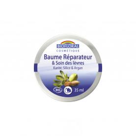 Repairing Balm and Lip care - Shea butter, Silica & Argan, COSMEBIO* - pot 35 ml | Biofloral